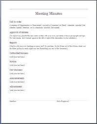 Word Meeting Notes Template Minute Notes Template Slightlyaltered Info