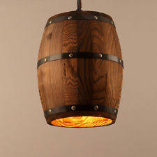 wine barrel lighting. Bar Cafe Lights Wood Wine Barrel Hanging Fixture Ceiling Pendant Lamp Lighting