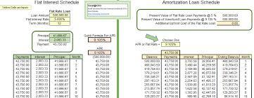 Flat Rate Loans Excel Cfo