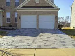 stamped concrete over concrete pavers