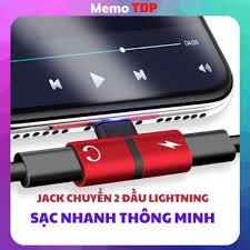 Jack chuyển đổi tai nghe iphone, 2 đầu lingtning cho Iphone 7 7 plus 8 8  plus iphone X - Memotop tại TP. Hồ Chí Minh