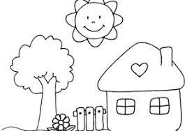 Disegni Da Colorare Babygreen Con Casa Da Stampare E Colorare E