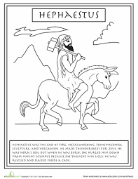Small Picture Greek Gods Hephaestus Worksheets Mythology and Ancient greece