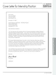Sample Internship Cover Letter Resume Letter Directory