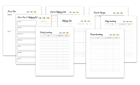 Meal Planning Sheets Meal Planning Printable Pack Retro Housewife Goes Green
