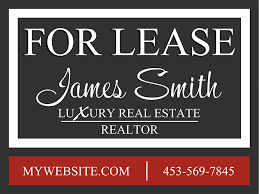 for lease sign template real estate yard sign template realtor yard sign template
