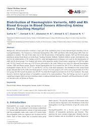 pdf distribution of haemoglobin
