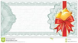 Golden Christmas Gift Certificate Or Discount Stock Vector
