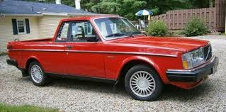 Just A Car Geek: 1984 Volvo 240 Pick Up Truck - It's Back!