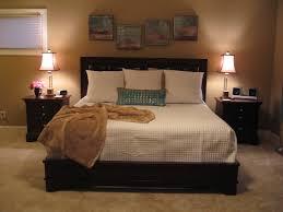 Bedroom:Outstanding Master Bedroom Design With Beigi Wall Paint And Black  Headboard Decor Ideas Outstanding