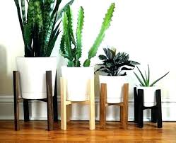 modern plant pots indoor pot ds mid century d wooden and with wheels stands stand nz cane plant pot stands indoor