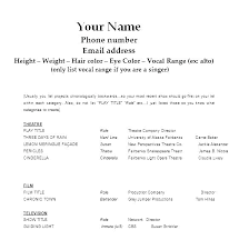 Acting Resume Sample No Experience How To Format An Acting Resume Gorgeous Acting Resume No Experience