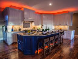 kitchen cabinet accent lighting. Color Or White Accent Lights Used To Highlight Above Cabinets In Kitchens Bookshelves. Kitchen Cabinet Lighting C