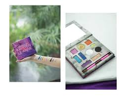 fruit of collaboration between urban decay cosmetics and your kristen leanne the kaleidoscope dream palette is as the name suggests colourful and