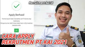 CARA APPLY REKRUTMEN PT.KAI 2021   RECRUITMENT.KAI.ID - YouTube