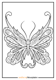 Kleurplaat Vlinder Download Gratis Vlinder Kleurplaten Eendiernl