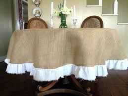 burlap round tablecloth 108 72 table cloth with white torn linen