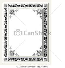 Antique frame drawing Cameo Vector Antique Ornate Frame Csp3482747 Can Stock Photo Vector Antique Ornate Frame Vintage Frame With Ornaments Full
