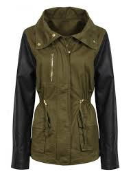 womens military green jacket