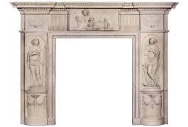 rare and beautiful english coade stone fireplace mantel circa 1790