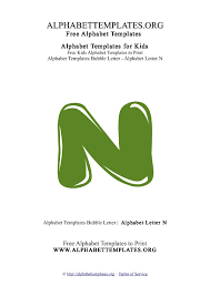 alphabettemplate letter n bubble