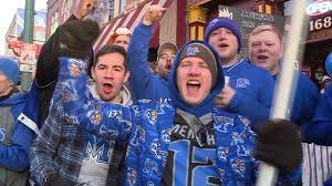 Football fans fill Beale Street for Memphis
