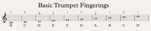 Trumpet Chromatic Scale Chart Trumpet Fingering Chart Trumpet Heroes
