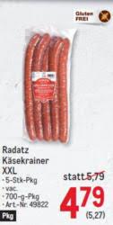 """So erhält die käsekrainer ihr typisches """"käsefusserl. Wogibtswas At Radatz Kasekrainer Xxl 4 79 Statt 5 79 Bei Metro"""
