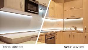 Under kitchen counter lighting Wireless Understanding Led Color Temperatures Led Light Guides Best Led Under Cabinet Lighting For Kitchens Led Light Guides