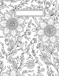 Back To School Binder Cover Adult Coloring Pages Disegni Da