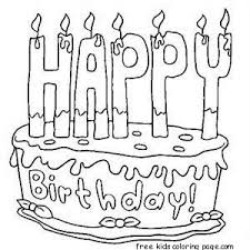 Small Picture Free printable birthday cake coloring sheets for kidsFree
