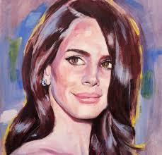paintings lana del rey acrylic portrait