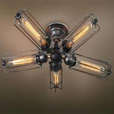 flush mount caged ceiling fan. Caged Ceiling Fan With Light Steampunk 0 Popular Buy Cheap . Flush Mount F