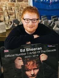 Top Charts 2010 Uk Ed Sheeran Named Artist Of The Decade Bbc News