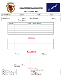 Free Football Team Sheet Template - April.onthemarch.co
