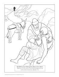 Good Samaritan Coloring Page Free Printable Lds Childrens