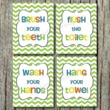 kids bathroom signs instant download printable for96 bathroom