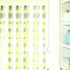 navy blue ticking stripe shower curtain and yellow pottery barn