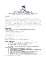 Qa Application Tester Resume Sample Job And Template Entry Level