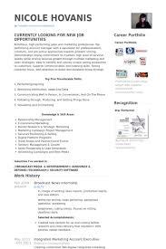News Intern Resume Samples Visualcv Resume Samples Database