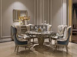 Circular Dining Table For 6 Ekar Furniture Table 6chairs Dining Table Luxury Furniture
