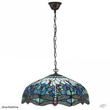 blue tiffany dragonfly large ceiling pendant lamp
