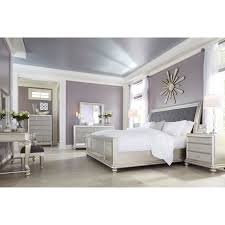 Cal King Bed w/ Upholstered Sleigh Headboard