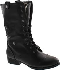elegant footwear dbdk sharper 1 elegant womens faux leather combat boot com