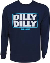 Dilly Dilly Bud Light T Shirt Bud Light Dilly Dilly Long Sleeve Navy Blue Tee Shirt
