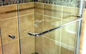 frameless sliding shower door roller and bracket set shower door parts towel bar prime line brass