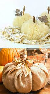 These DIY pumpkins are perfect for farmhouse style decorations and  Thanksgiving centerpieces! Tutorial here and here.