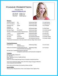 Example Of Acting Resume Resume For Study