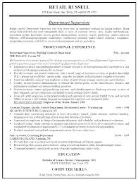 Resume Objective Examples For Retail Objective For Resume In Retail Retail Objectives For Resumes Sales