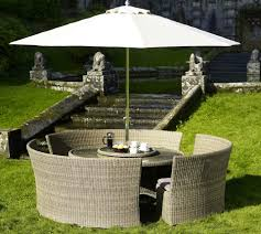 Image of: unique-outdoor-furniture-round-dining